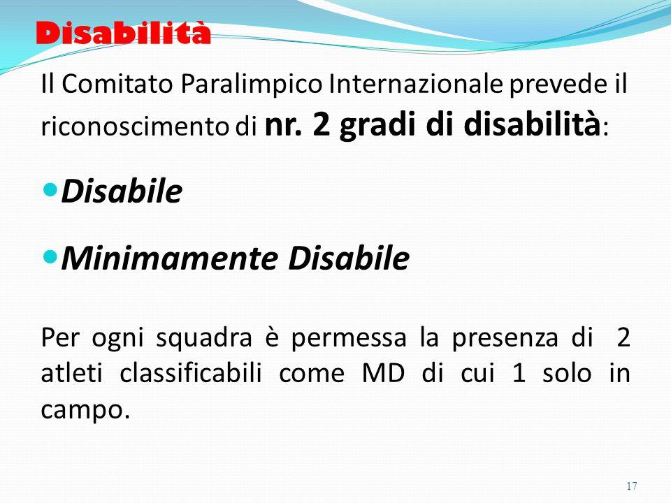 Disabilità Il Comitato Paralimpico Internazionale prevede il riconoscimento di nr.