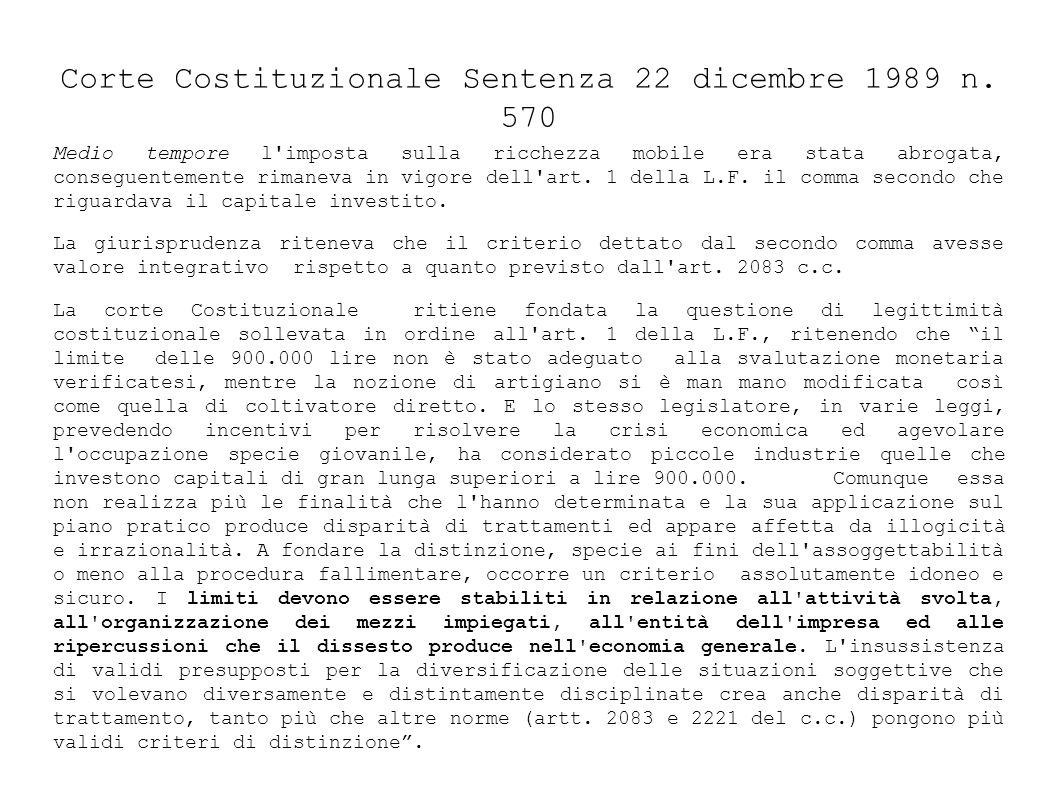 Corte Costituzionale Sentenza 22 dicembre 1989 n.
