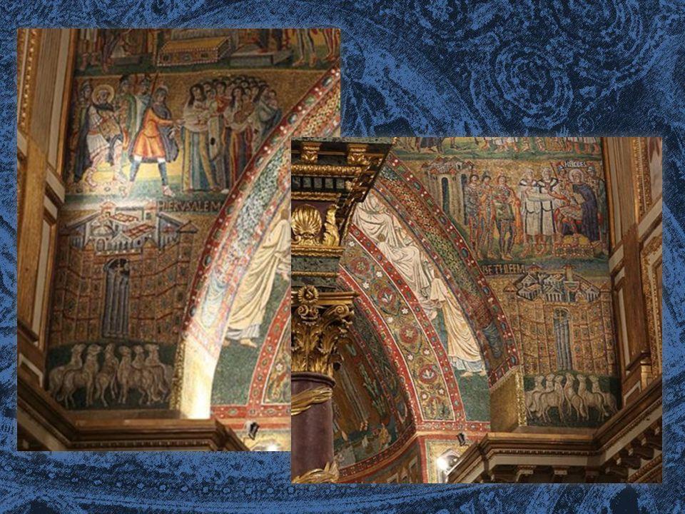 IL RIFACIMENTO DELL'ABSIDE In epoca paleocristiana, l abside era rivestita da un mosaico che raffigurava la Madonna con il bambino circondata da santi, del quale non rimane più traccia evidente.