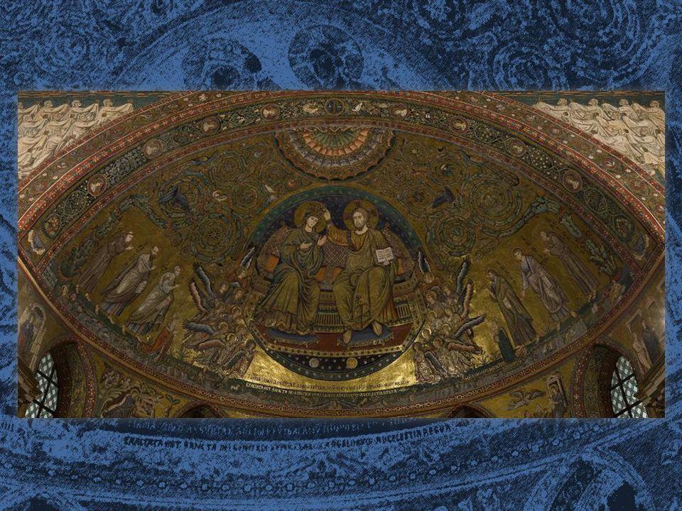 I MOSAICI DELL'ABSIDE Nel resto dell abside una decorazione germoglia da due tronchi posti all estrema destra e all estrema sinistra del mosaico.