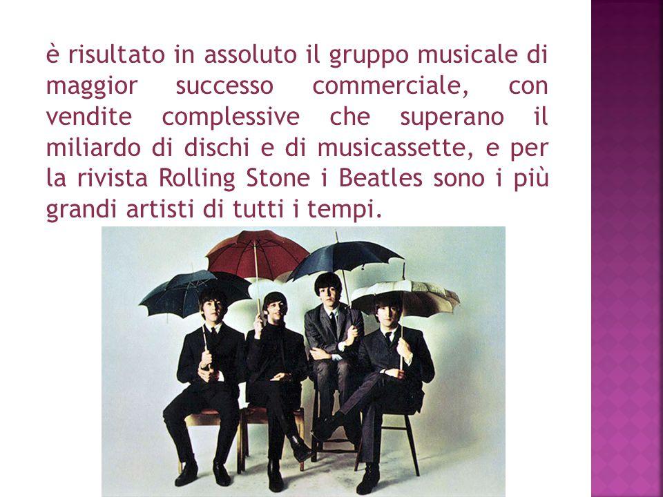è risultato in assoluto il gruppo musicale di maggior successo commerciale, con vendite complessive che superano il miliardo di dischi e di musicasset