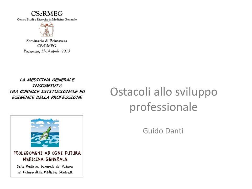 Ostacoli allo sviluppo professionale Guido Danti