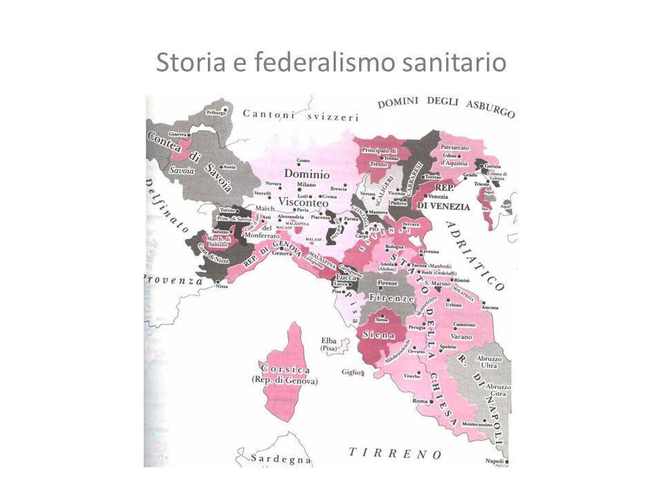 Storia e federalismo sanitario