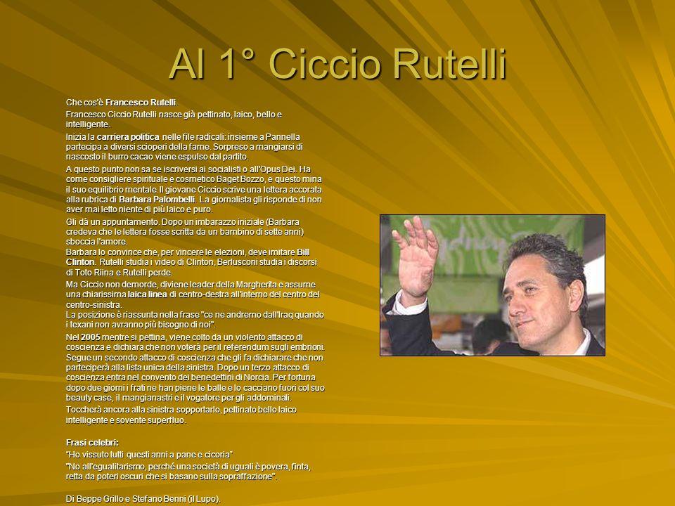 Al 2° Agazio Loiero Agazio Loiero (Santa Severina, 14 gennaio 1940). E' un uomo politico italiano. Già ministro della Repubblica, è l'attuale presiden