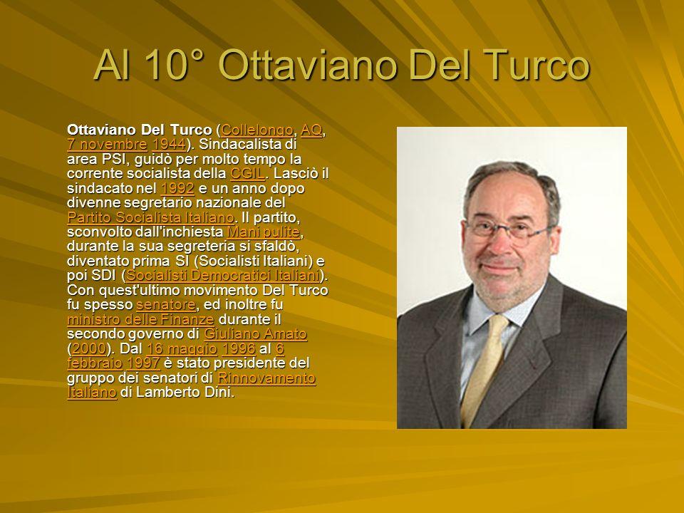 Al 10° Ottaviano Del Turco Ottaviano Del Turco (Collelongo, AQ, 7 novembre 1944).