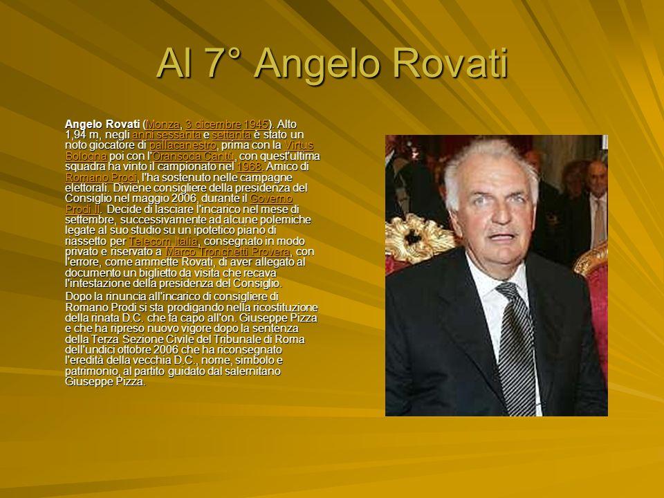 Al 7° Angelo Rovati Angelo Rovati (Monza, 3 dicembre 1945).