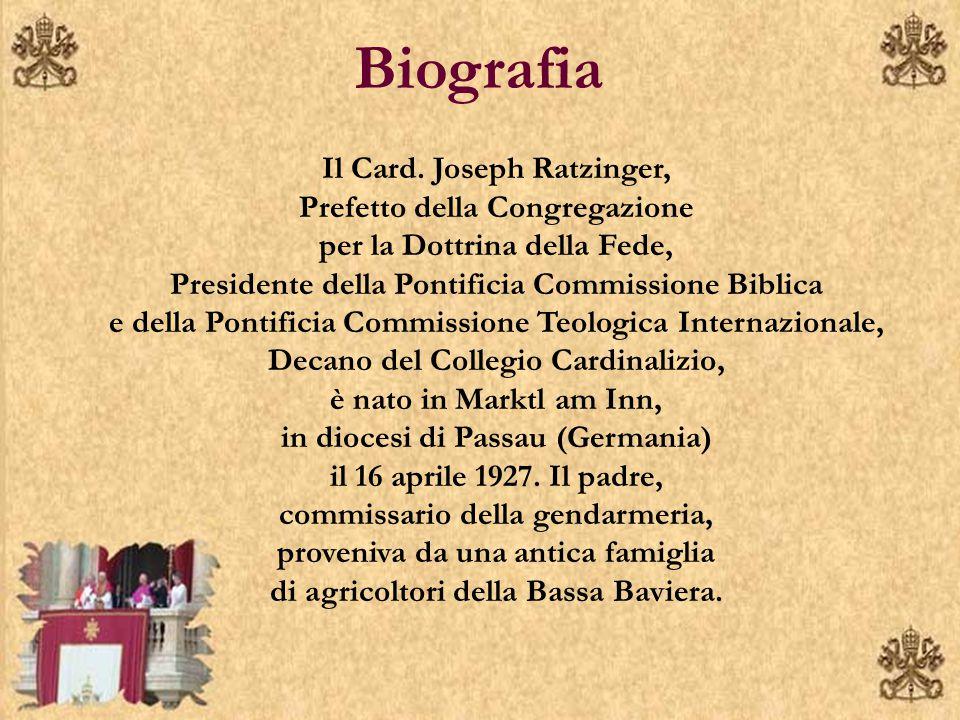 Biografia Il Card.