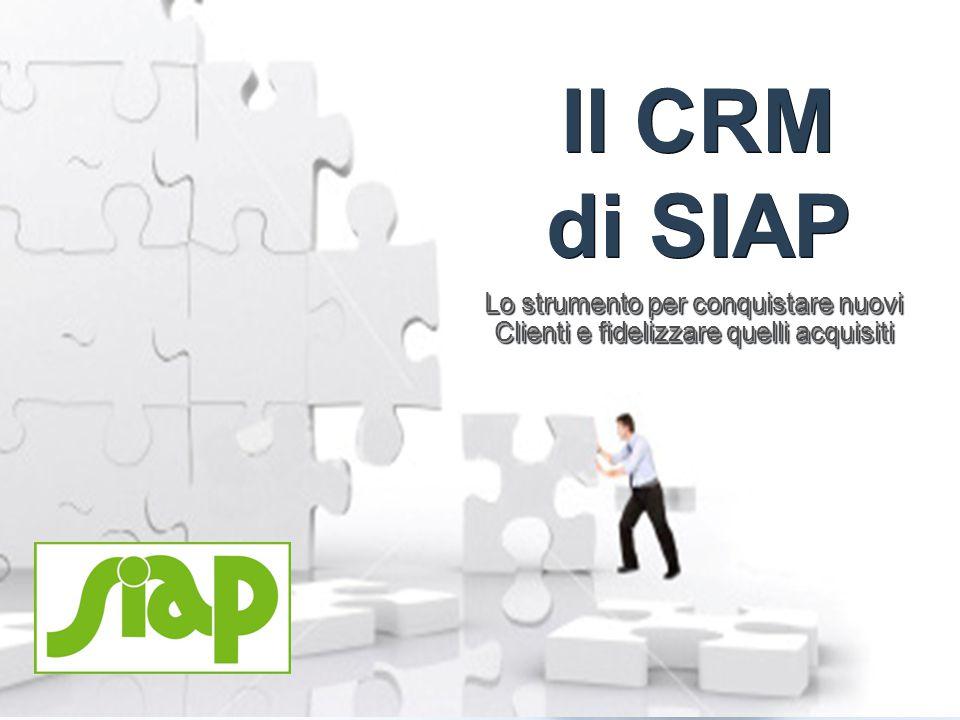 1101 Il CRM di SIAP Lo strumento per conquistare nuovi Clienti e fidelizzare quelli acquisiti