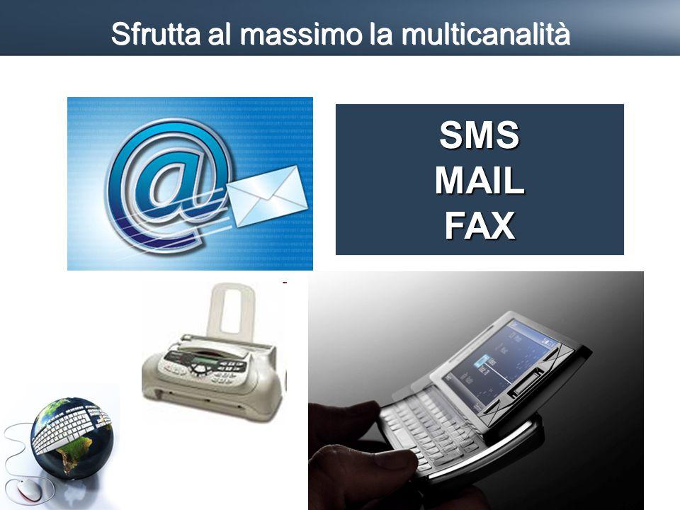 Sfrutta al massimo la multicanalità SMSMAILFAX