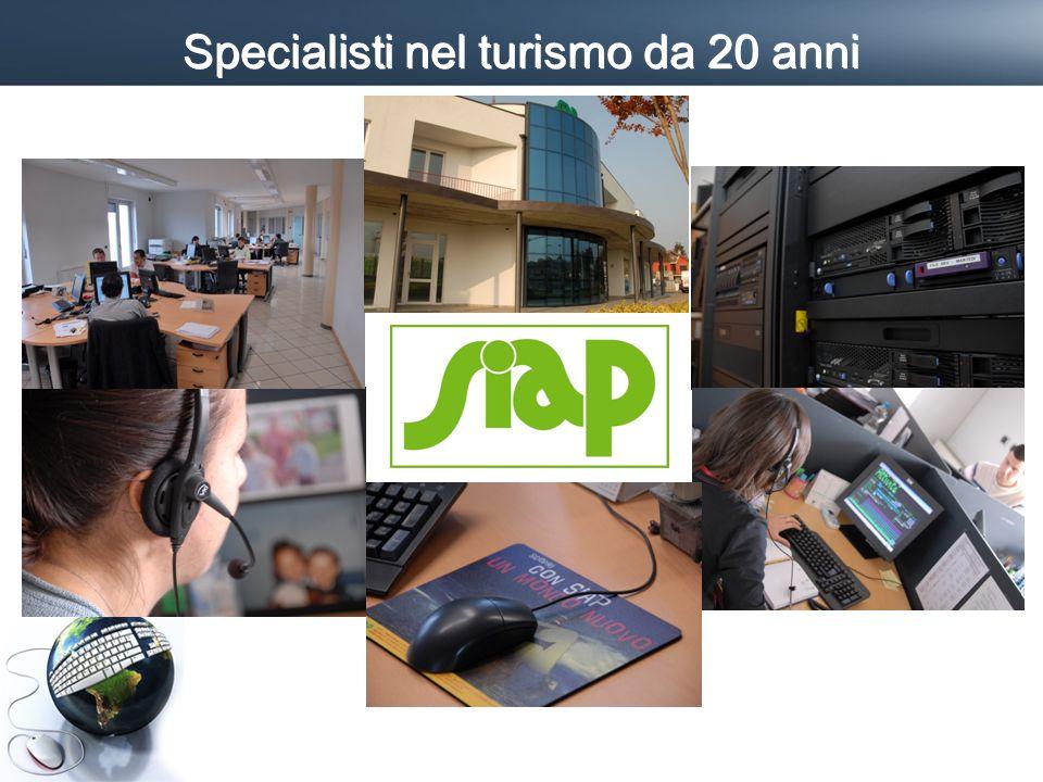Profilo SIAP I numeri Installazioni Dati 2009 Cuneo, Roma + Partner a PD Dedicate al turismo 44 risorse 2.500 Clienti 2 sedi 4,1 MIO Giro affari