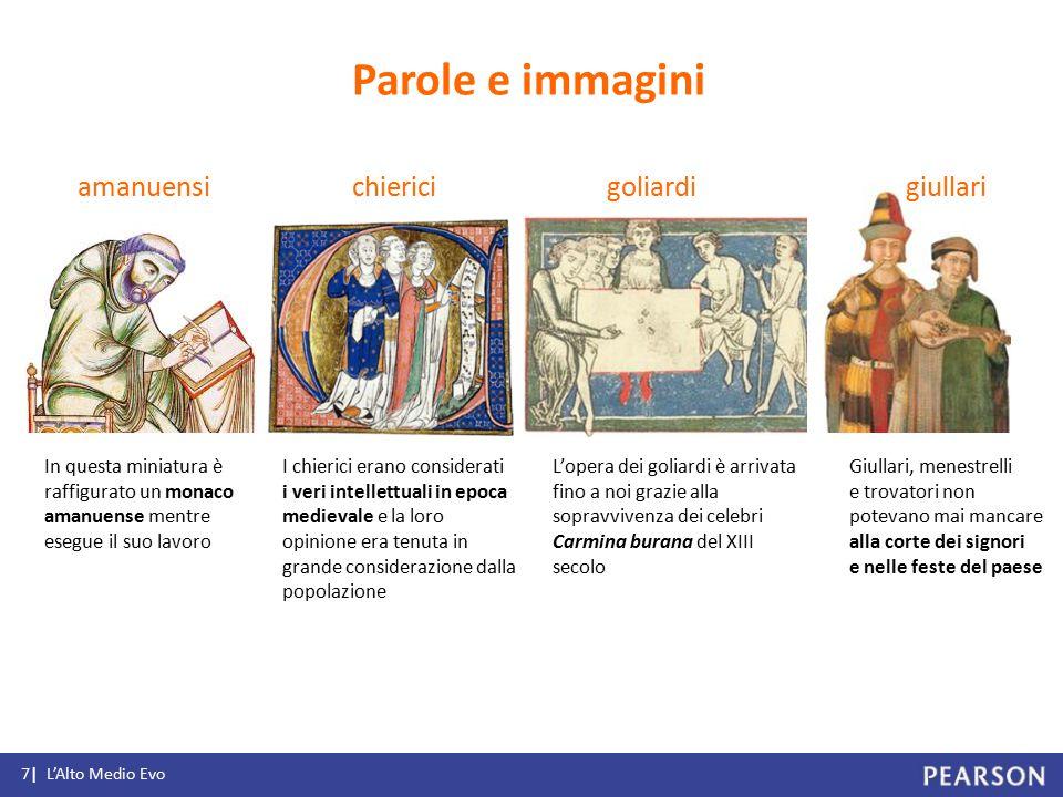 amanuensi In questa miniatura è raffigurato un monaco amanuense mentre esegue il suo lavoro chiericigoliardi I chierici erano considerati i veri intel