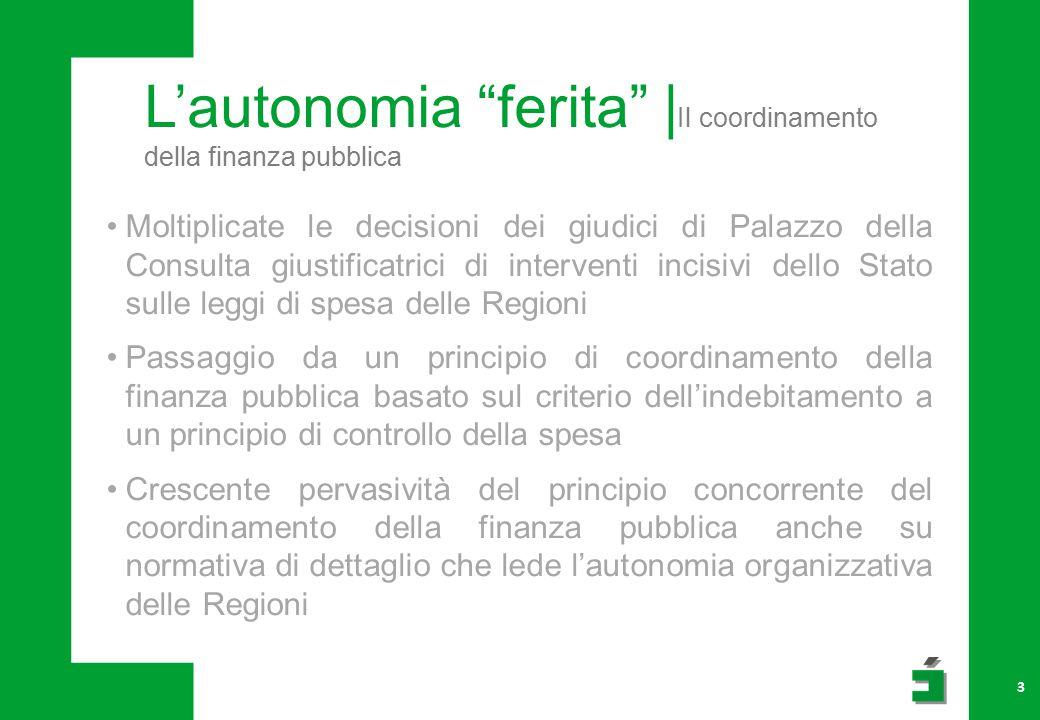 L'internazionalizzazione| le politiche regionali 14 Lombardia prima Regione in Italia per priorità accordata all'obiettivo internazionalizzazione.