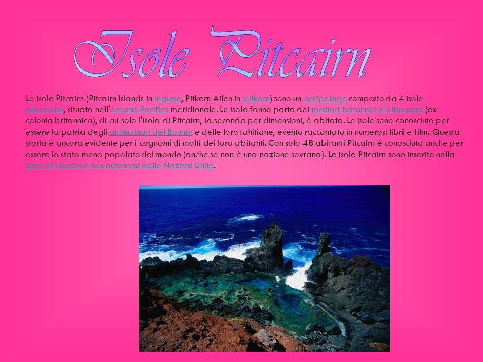 L unica isola abitata è Pitcairn, dove risiede la capitale.