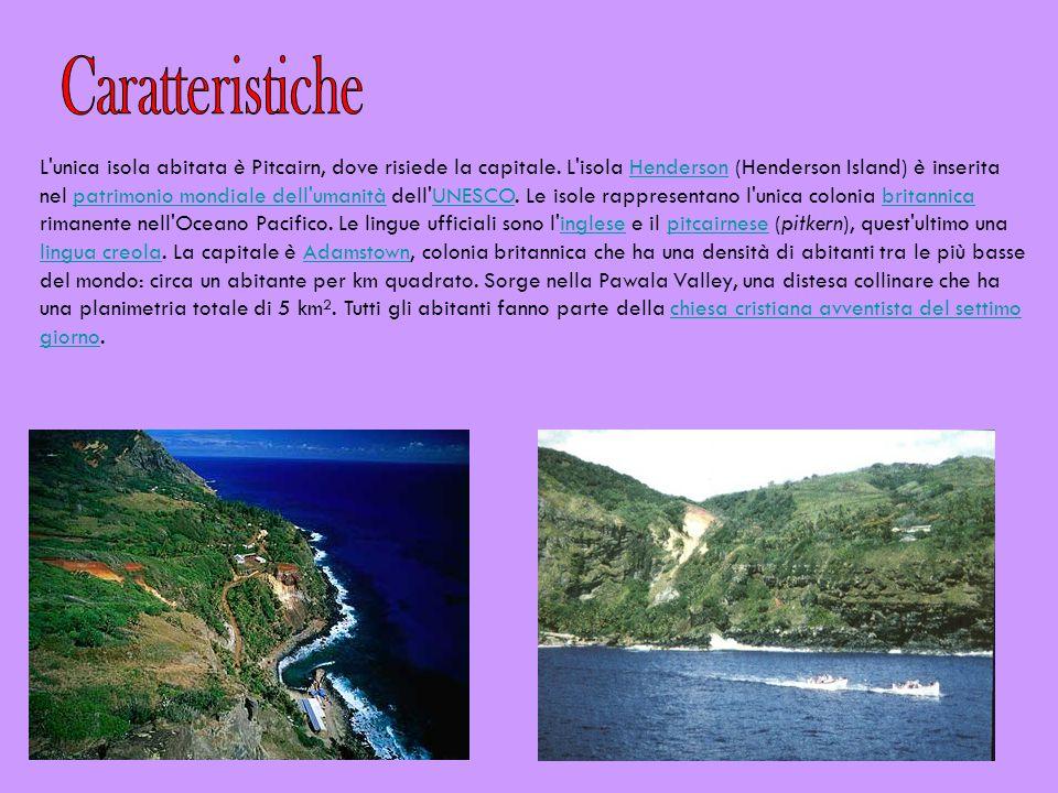 L'unica isola abitata è Pitcairn, dove risiede la capitale. L'isola Henderson (Henderson Island) è inserita nel patrimonio mondiale dell'umanità dell'