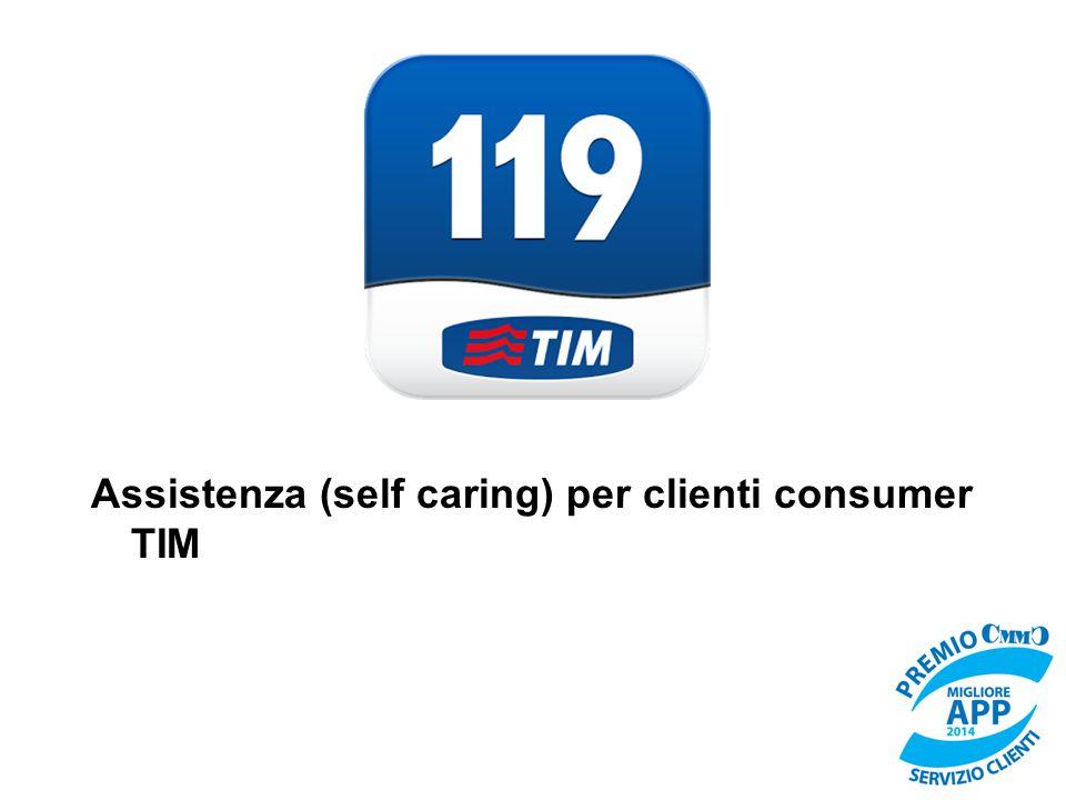 Assistenza (self caring) per clienti consumer TIM
