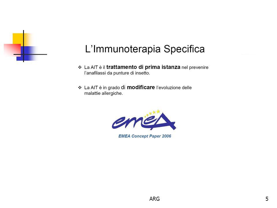 ARG16 Indicazioni alla ITS  Individuazione di altri fattori scatenanti  Correlazione clinica tra sensibilizzazione allergica, esposizione e comparsa dei sintomi  Risposta alla terapia farmacologica e alla prevenzione ambientale  Disponibilita' di estratti di elevata qualita' e standardizzati  Allergeni per i quali sia stata riconosciuta l'efficacia dei vaccini (pollini, acari, gatto, alternaria)  Assenza di controindicazioni Gli estratti sia diagnostici che terapeutici NON sono tutti uguali!