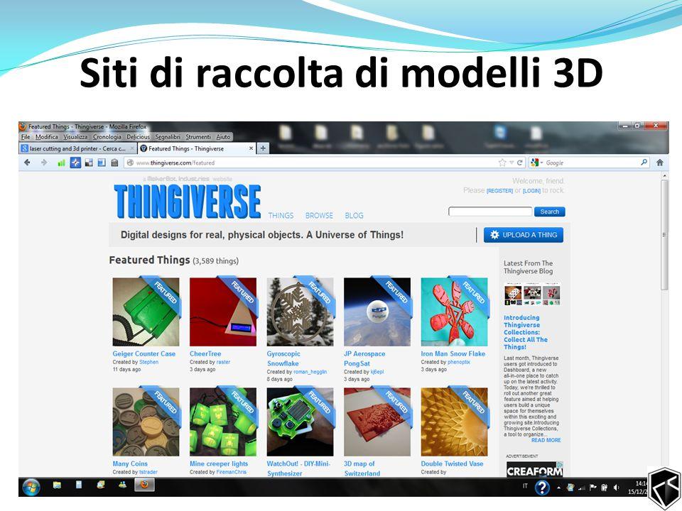 Siti di raccolta di modelli 3D