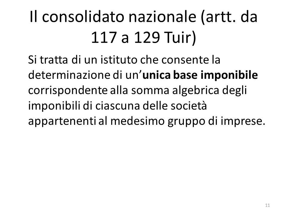 11 Il consolidato nazionale (artt.