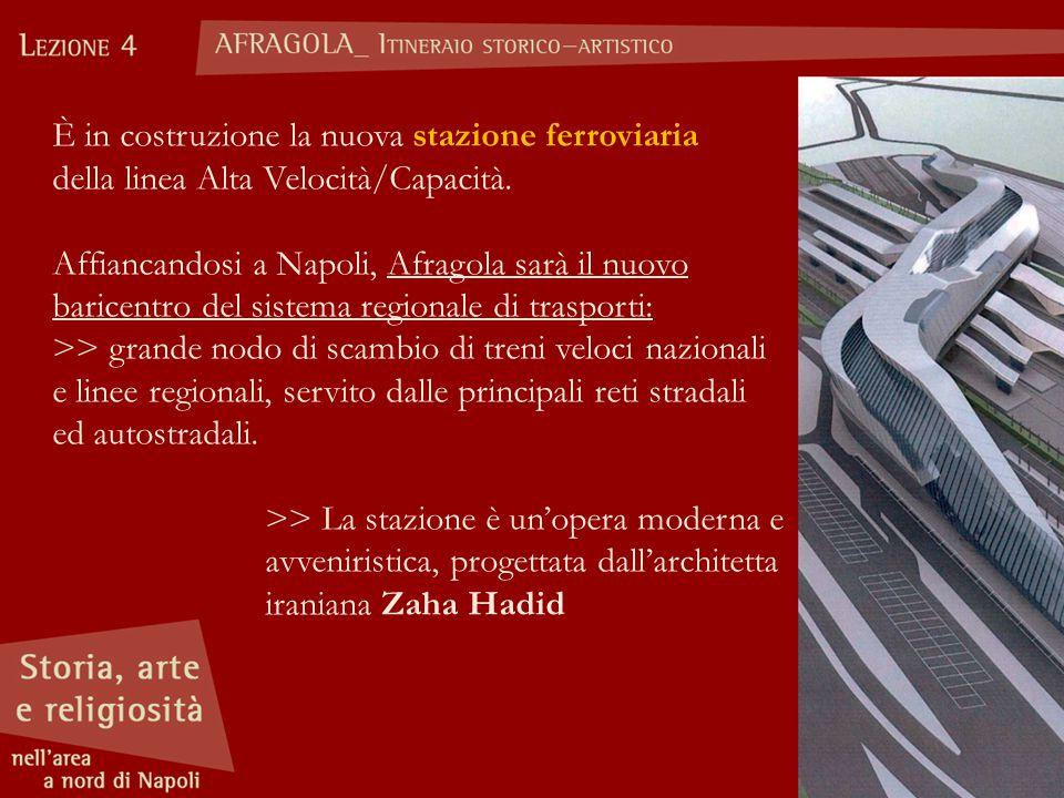 È in costruzione la nuova stazione ferroviaria della linea Alta Velocità/Capacità.