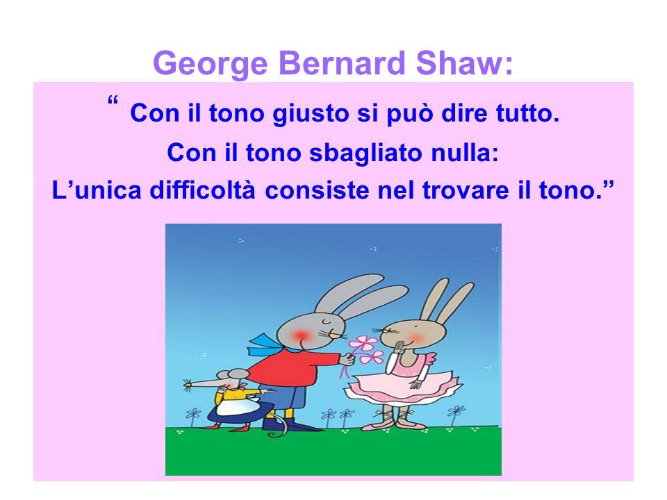 George Bernard Shaw: Con il tono giusto si può dire tutto.