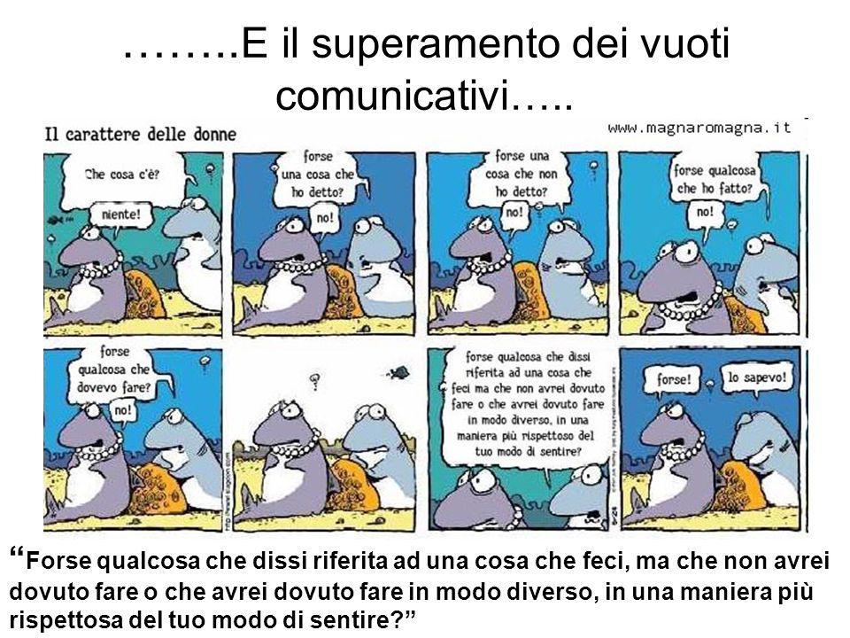 ……..E il superamento dei vuoti comunicativi…..