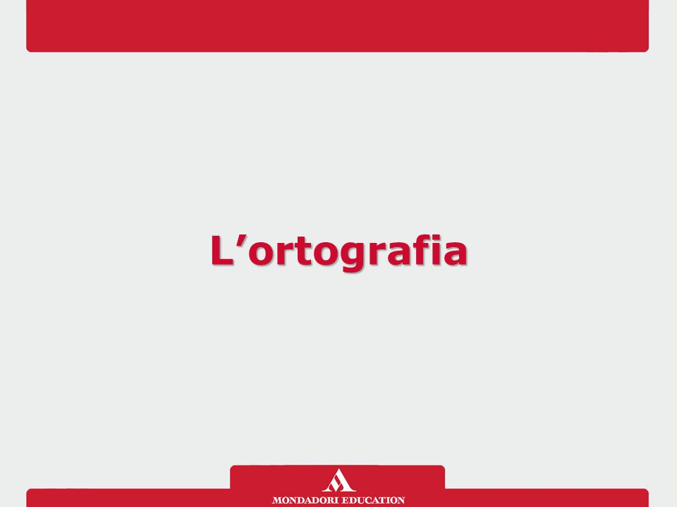 L'ortografia