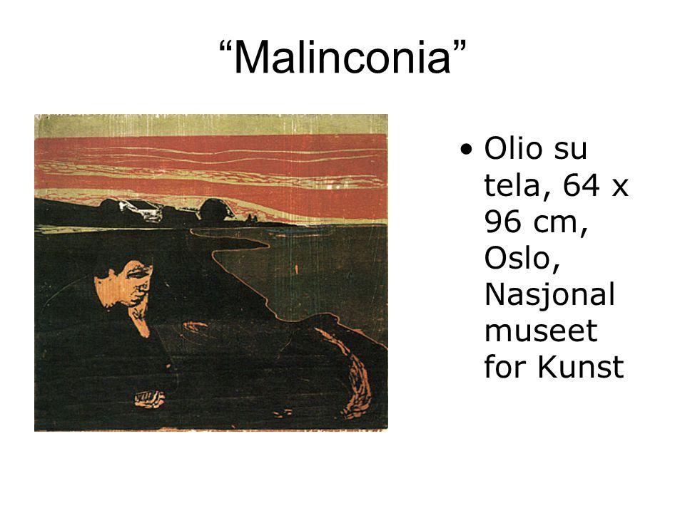 Malinconia Olio su tela, 64 x 96 cm, Oslo, Nasjonal museet for Kunst