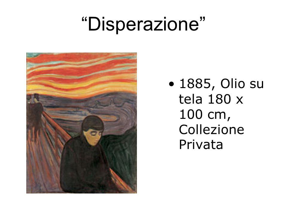 Disperazione 1885, Olio su tela 180 x 100 cm, Collezione Privata