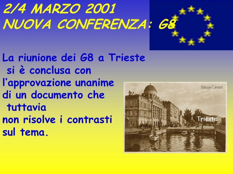 """POSIZIONE UROPA I rappresentanti dell'U.E. non sono riusciti a proporsi con una posizione unitaria forte: infatti anche tra le """"7 sorelle"""" c'era chi m"""