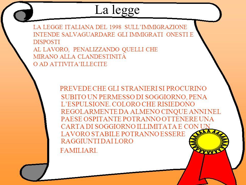 GLI IMMIGRATI (IN ITALIA E IN EUROPA)