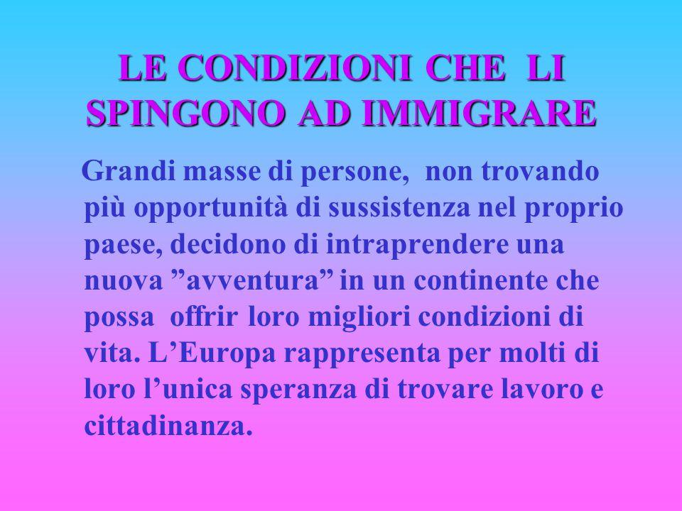 LE DIMENSIONI DEL FENOMENO (immigrati regolari)