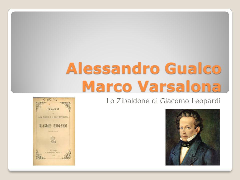 Alessandro Gualco Marco Varsalona Lo Zibaldone di Giacomo Leopardi