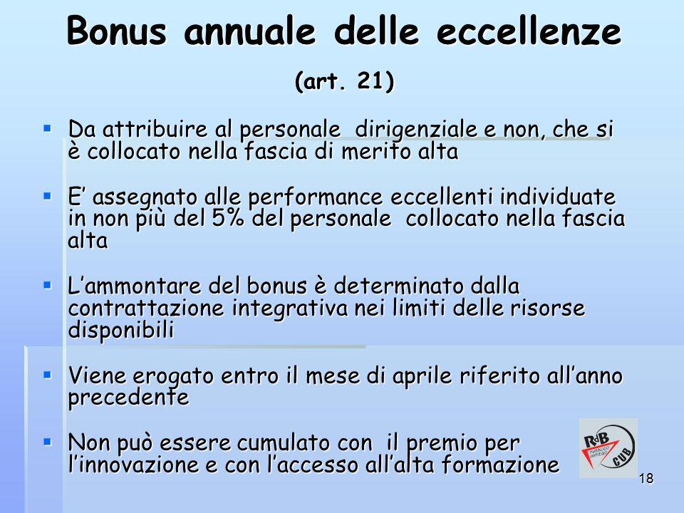 18 Bonus annuale delle eccellenze (art.
