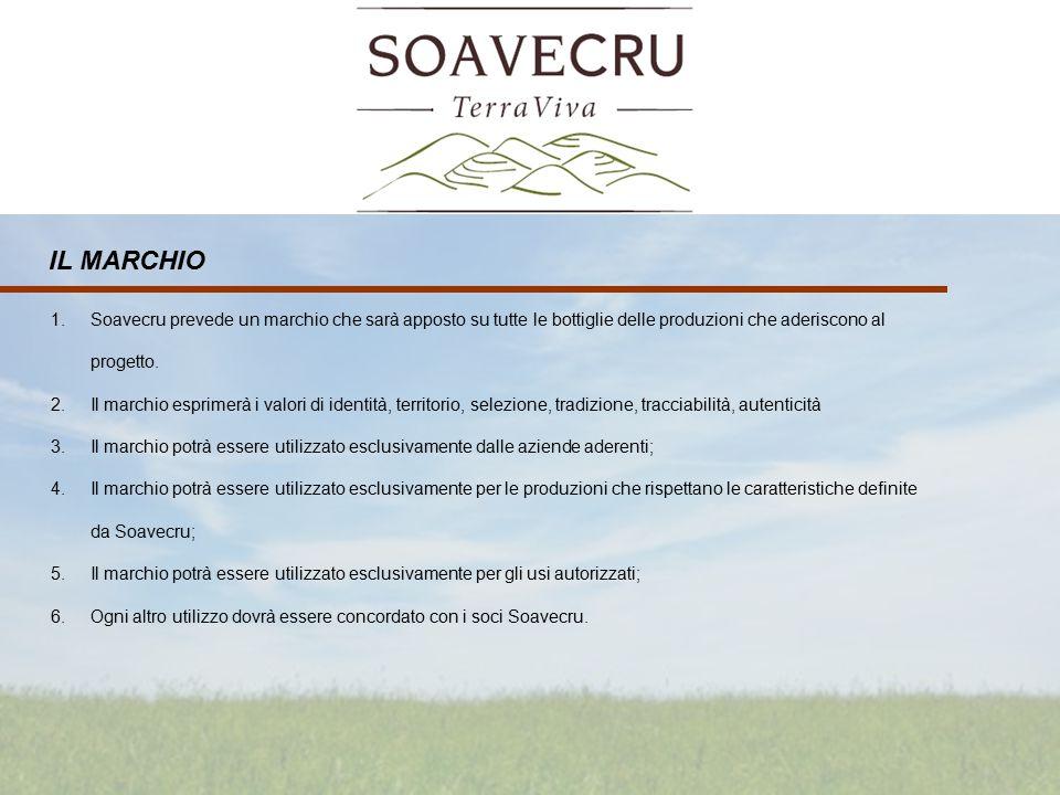 1.Soavecru prevede un marchio che sarà apposto su tutte le bottiglie delle produzioni che aderiscono al progetto.