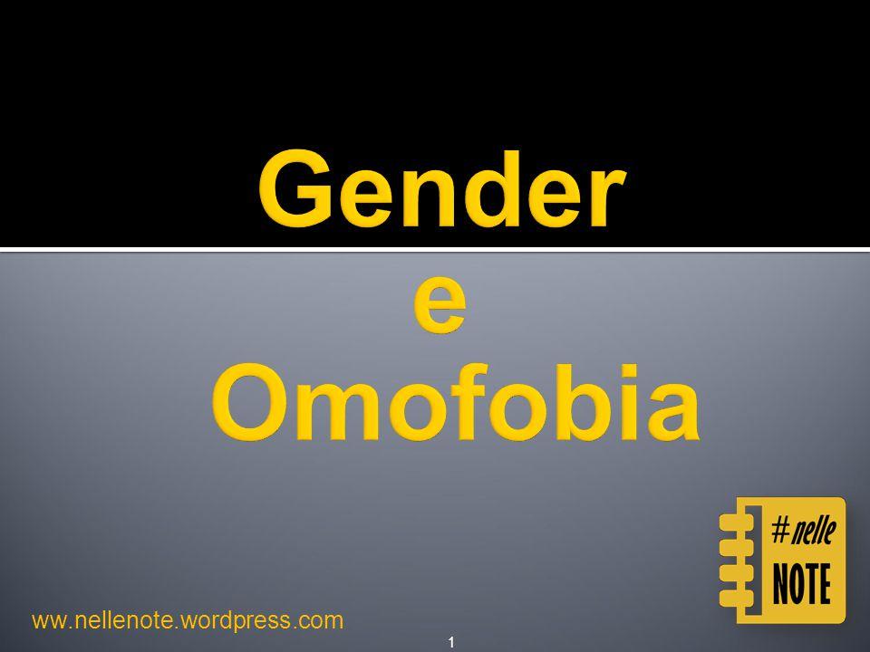 Ideologia rasente il ridicolo e l'UTOPIA  Reparti separati per omo e transessuali  Celle singole  Sportello di ascolto per LGBT  Percorsi di reinserimento privilegiati nella vita civile per gli omosessuali Gender e Omofobia - ww.nellenote.wordpress.com62