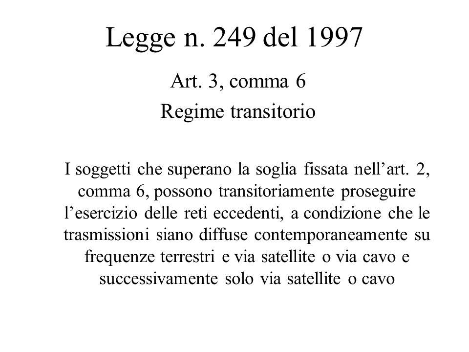 Legge n. 249 del 1997 Art.