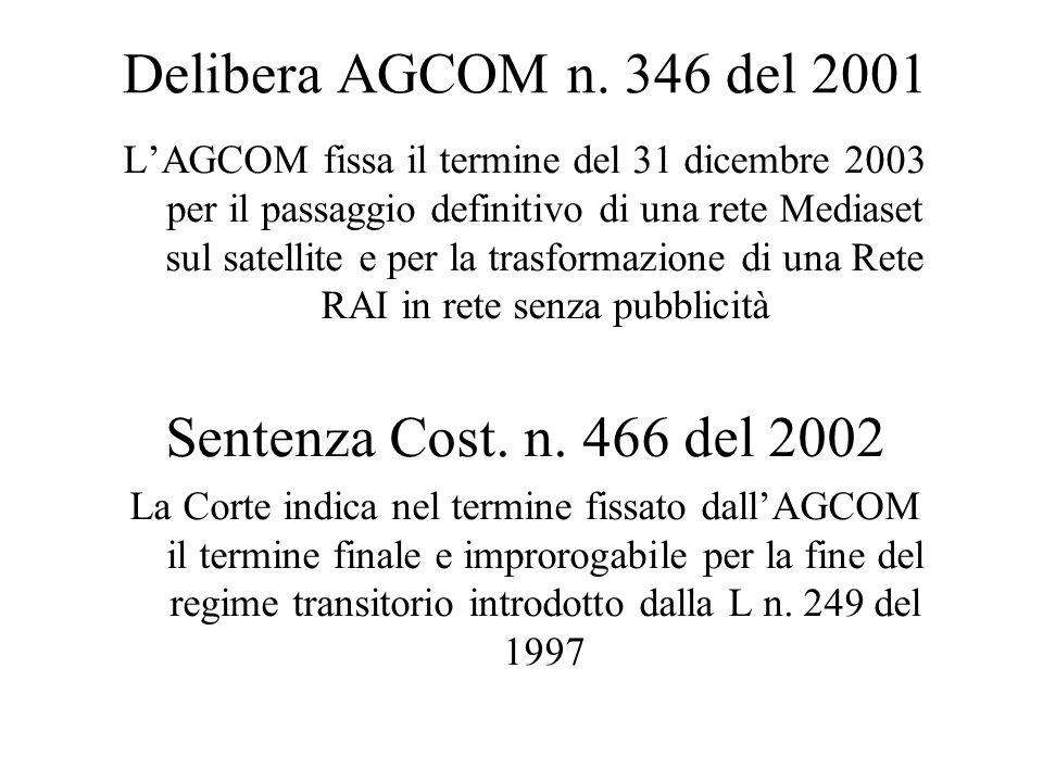 Delibera AGCOM n.