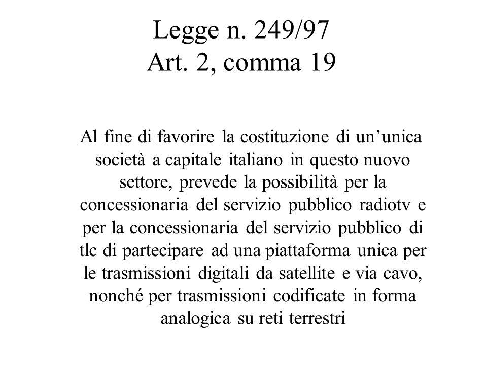 Legge n. 249/97 Art.