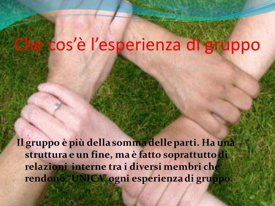 Il gruppo risponde a un bisogno di contatto sociale, di esperienza, di relazione ed è anche un elemento di crescita personale……ne siamo consapevoli!!!!!!????