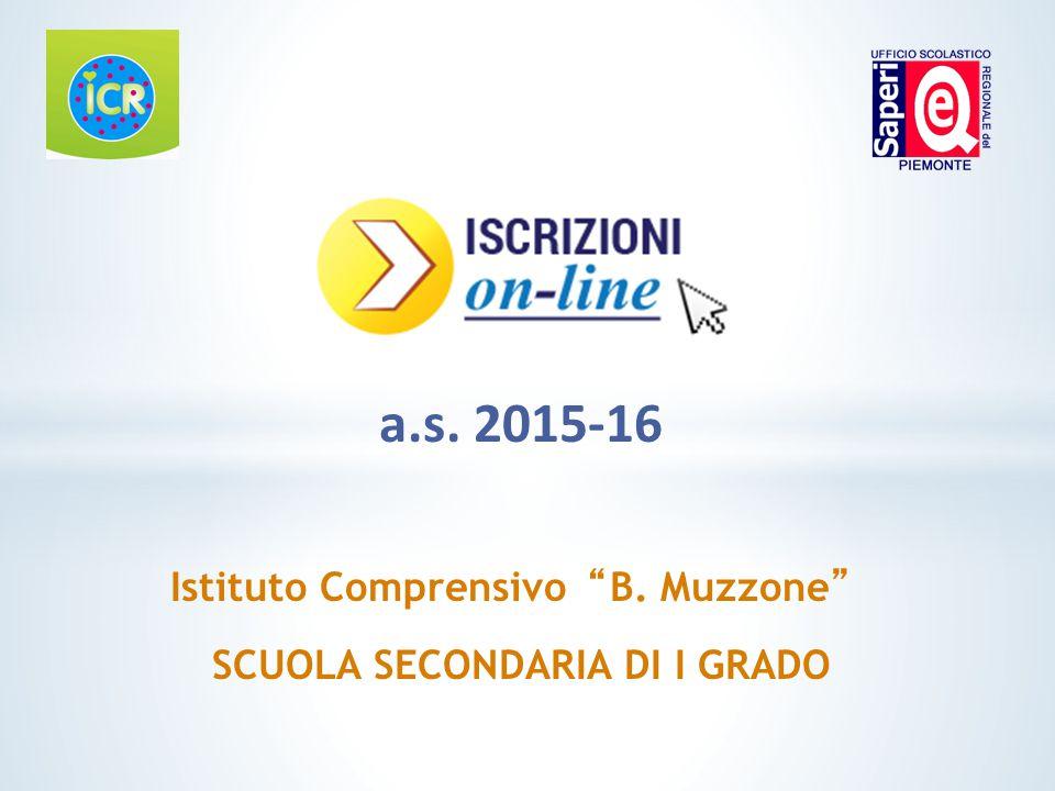"""a.s. 2015-16 Istituto Comprensivo""""B. Muzzone"""" SCUOLA SECONDARIA DI I GRADO"""