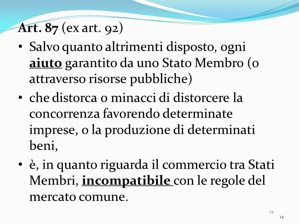 14 Art. 87 (ex art.