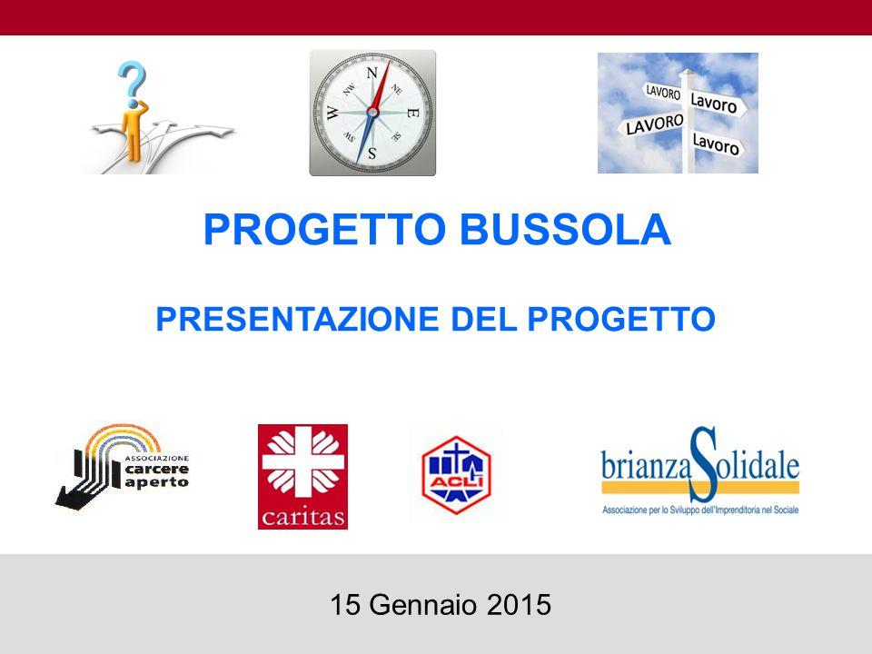 PROGETTO BUSSOLA PRESENTAZIONE DEL PROGETTO 1 15 Gennaio 2015
