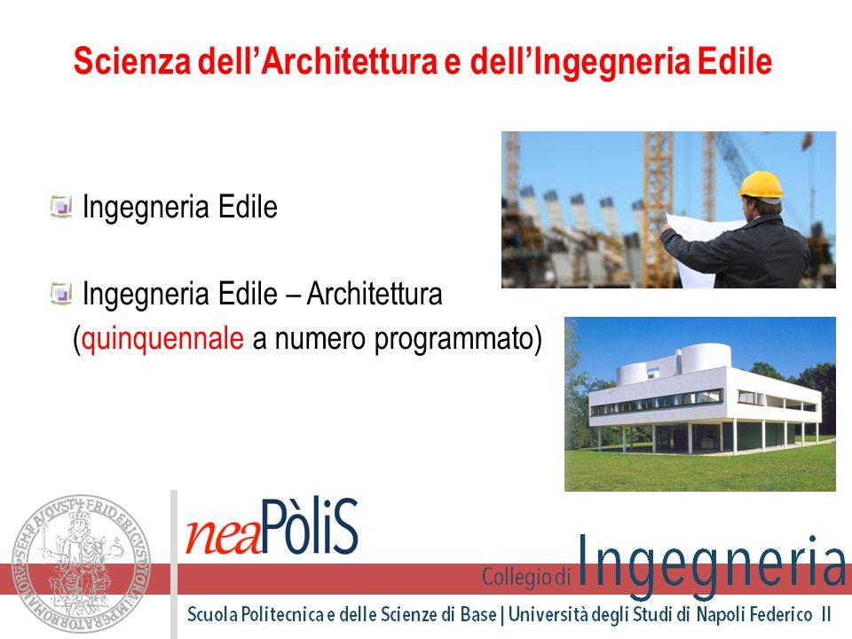 Ingegneria Edile Ingegneria Edile – Architettura (quinquennale a numero programmato) Scienza dell'Architettura e dell'Ingegneria Edile