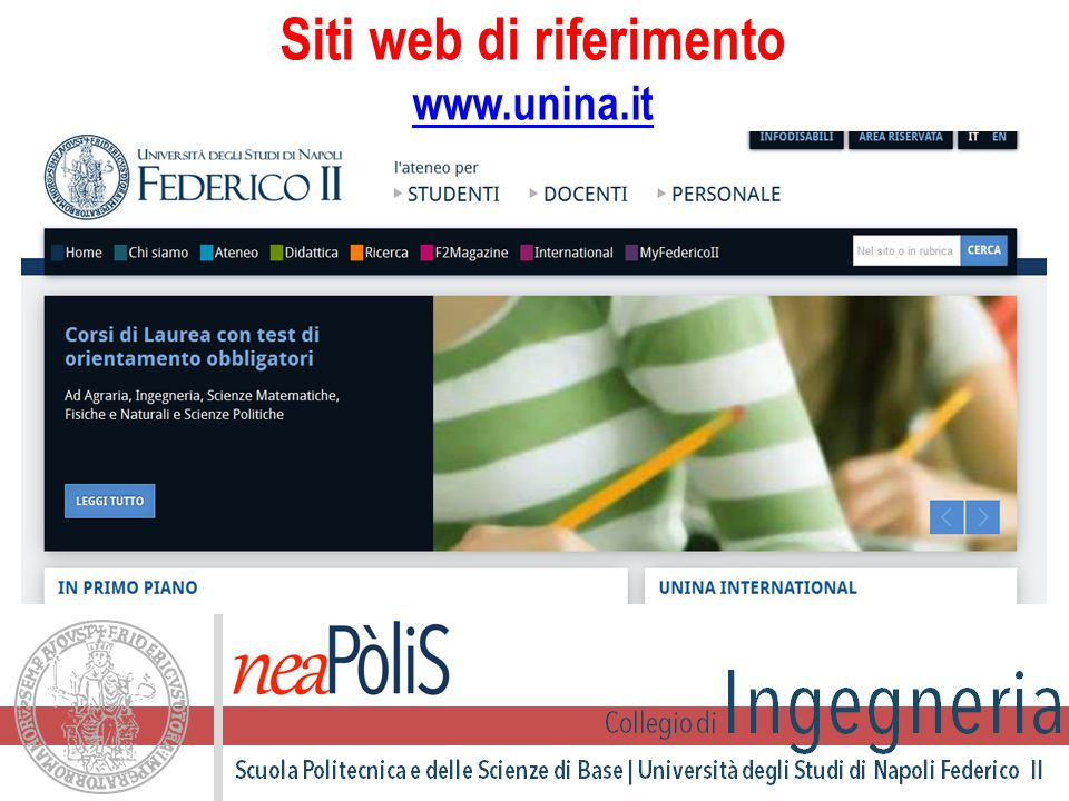 Siti web di riferimento www.unina.it