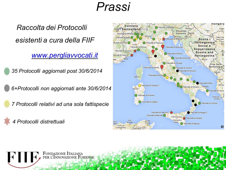 Prassi Raccolta dei Protocolli esistenti a cura della FIIF www.pergliavvocati.it 35 Protocolli aggiornati post 30/6/2014 6+Protocolli non aggiornati a