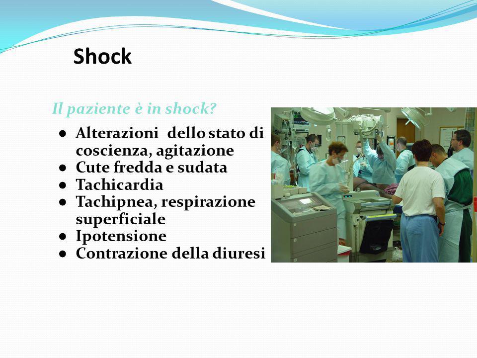 Shock Qual è la causa dello shock.
