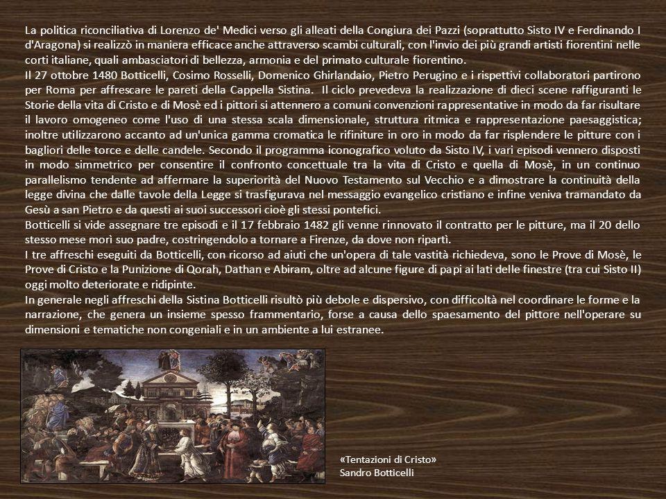 La politica riconciliativa di Lorenzo de' Medici verso gli alleati della Congiura dei Pazzi (soprattutto Sisto IV e Ferdinando I d'Aragona) si realizz