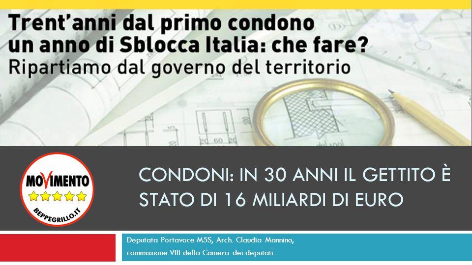 La legge Bucalossi – L.10/1977 Art. 12. (Destinazione dei proventi delle concessioni) 1.