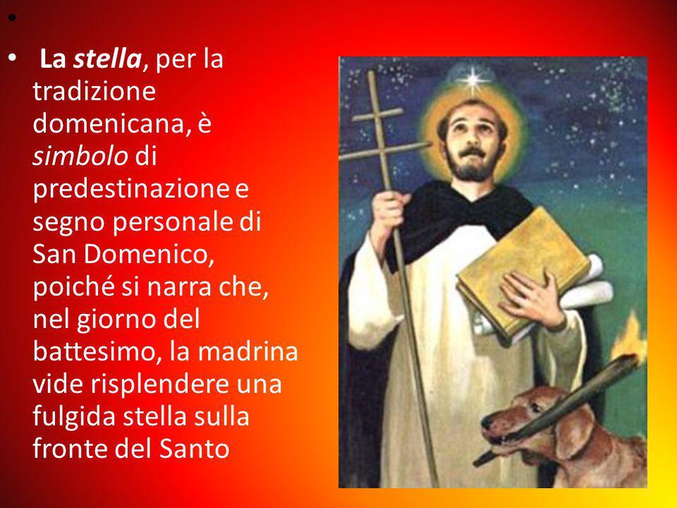 La stella, per la tradizione domenicana, è simbolo di predestinazione e segno personale di San Domenico, poiché si narra che, nel giorno del battesimo