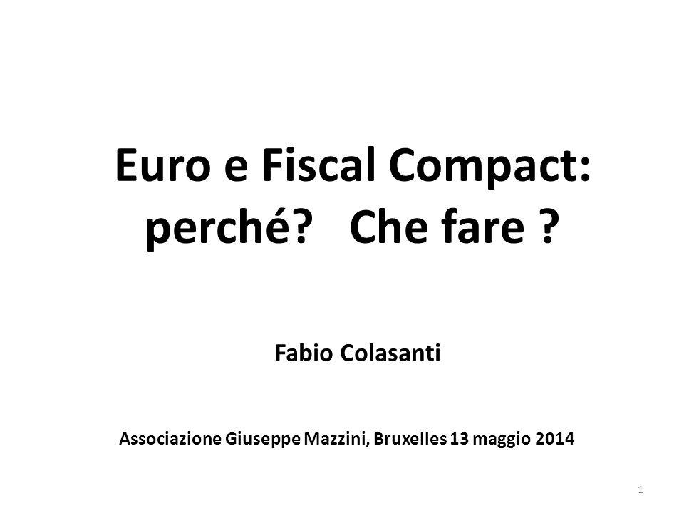 Una premessa Che l'euro sia il capro espiatorio per dei problemi interni italiani che non si vogliono vedere.